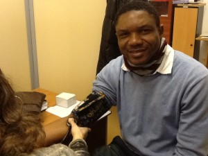 Blood pressure check at the MPC Medical Advice Center